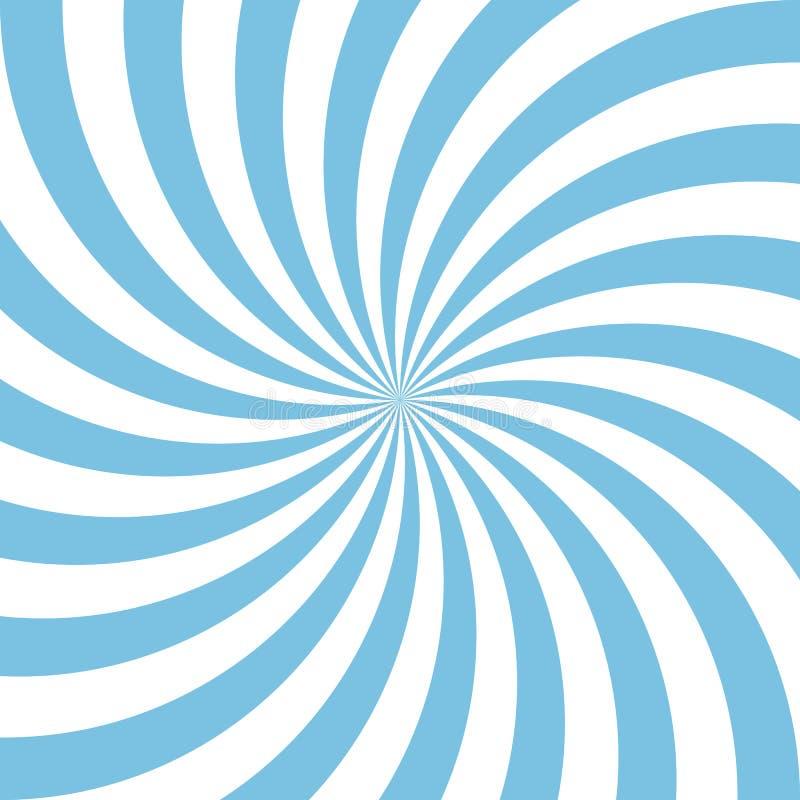 Fundo espiral do sumário azul e branco dos doces Ilustra??o do vetor ilustração do vetor