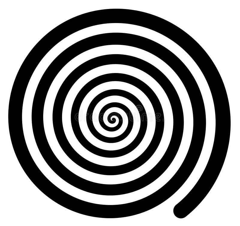 Fundo espiral hipnótico que gerencie retro de gerencio isolado ilustração do vetor