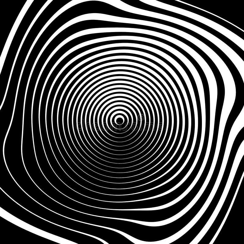 Fundo espiral irregular no formato quadrado Geométrico abstrato ilustração stock