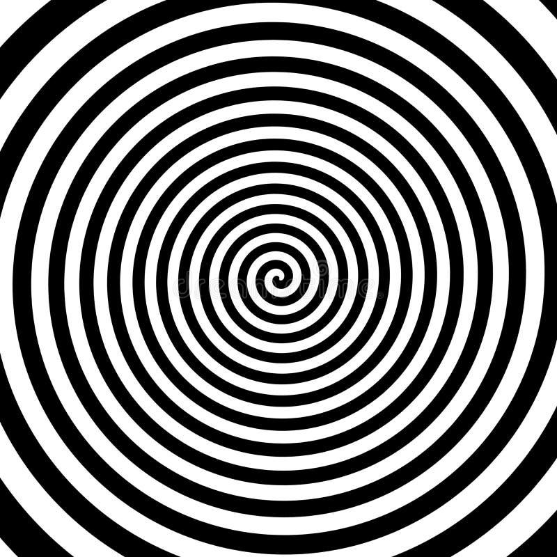 Fundo espiral preto e branco ilustração do vetor