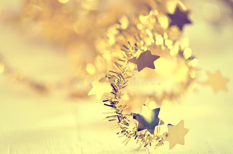 Fundo estilizado da decoração do Natal fotos de stock