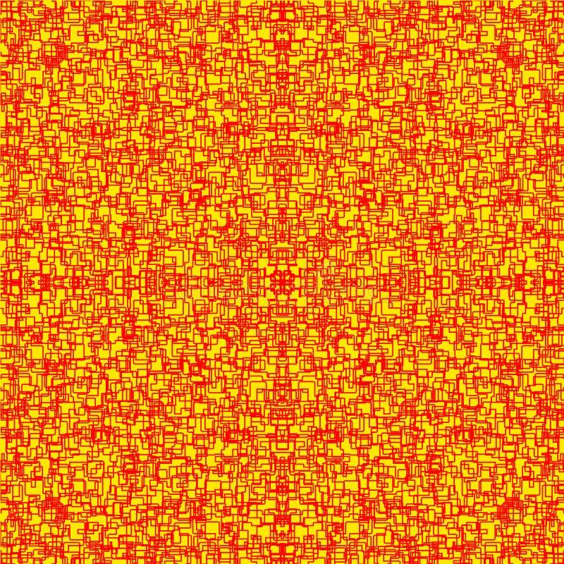 Fundo estilizado vermelho e amarelo de lava ardente com quebras ilustração royalty free