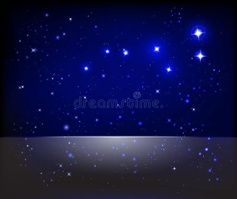 Fundo estrelado do céu ilustração royalty free