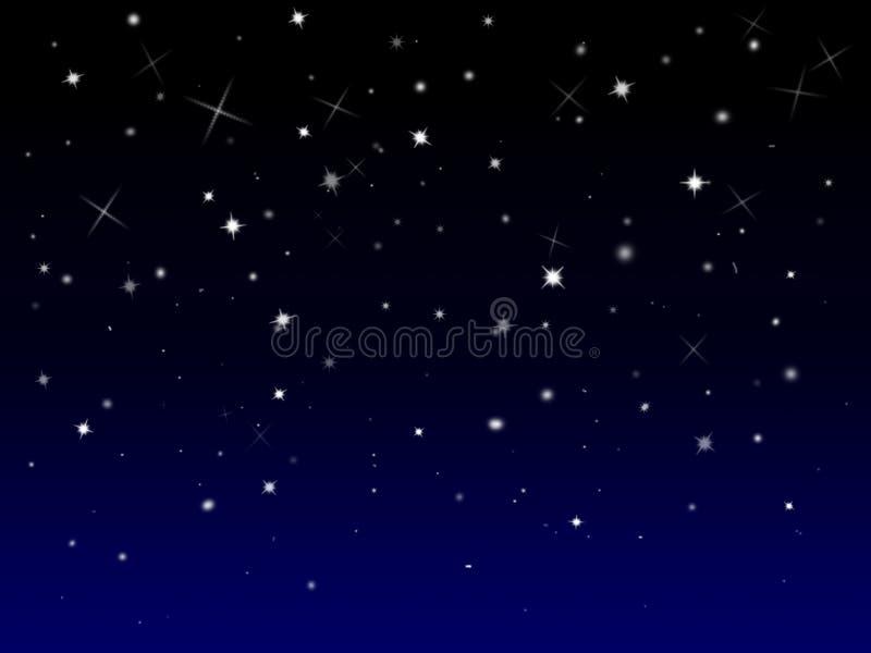 Fundo estrelado Sparkly ilustração do vetor