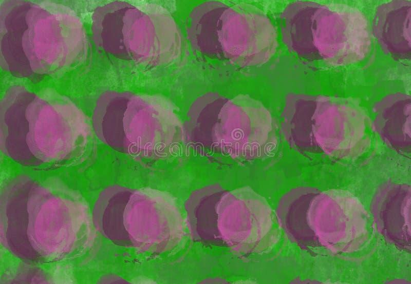 Fundo estrutural cinzento do sumário com rosa e Borgonha  elementos redondos imagem de stock royalty free