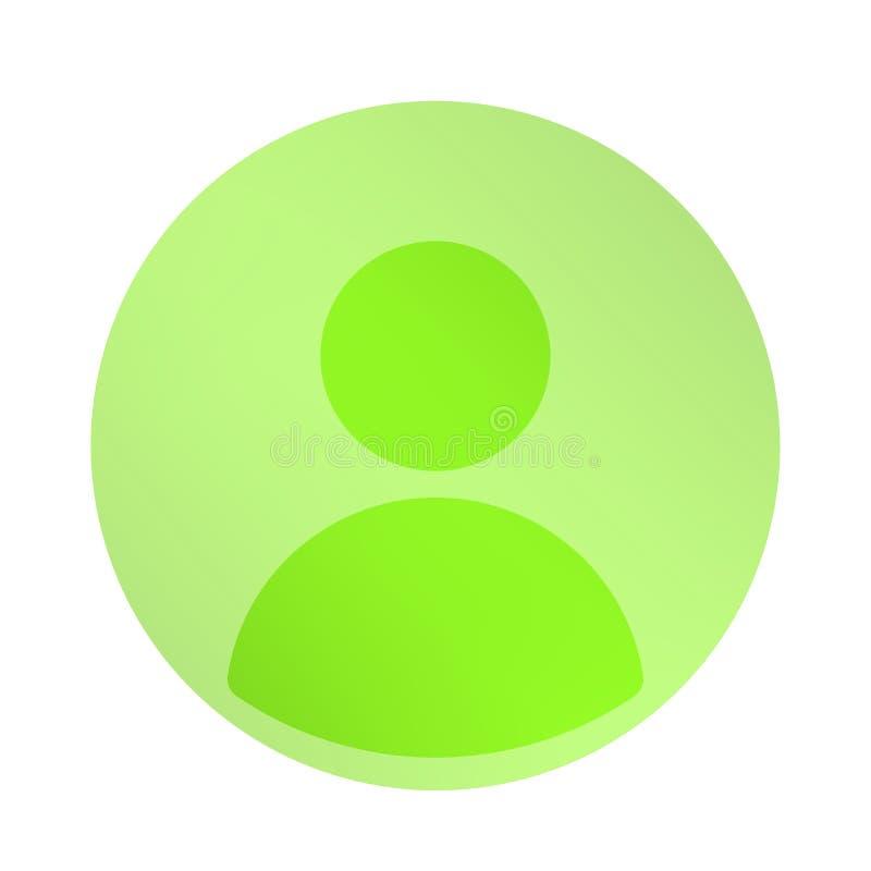 Fundo esverdeado com ícone do perfil social sobre o tanoeiro ilustração royalty free