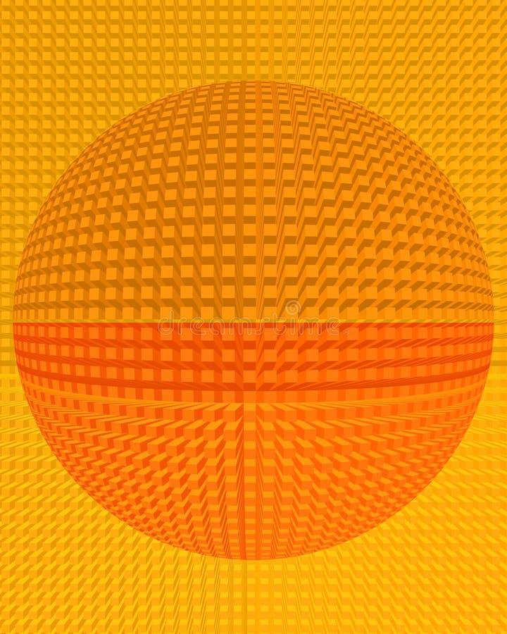 Fundo expulsando abstrato da esfera do bloco ilustração stock