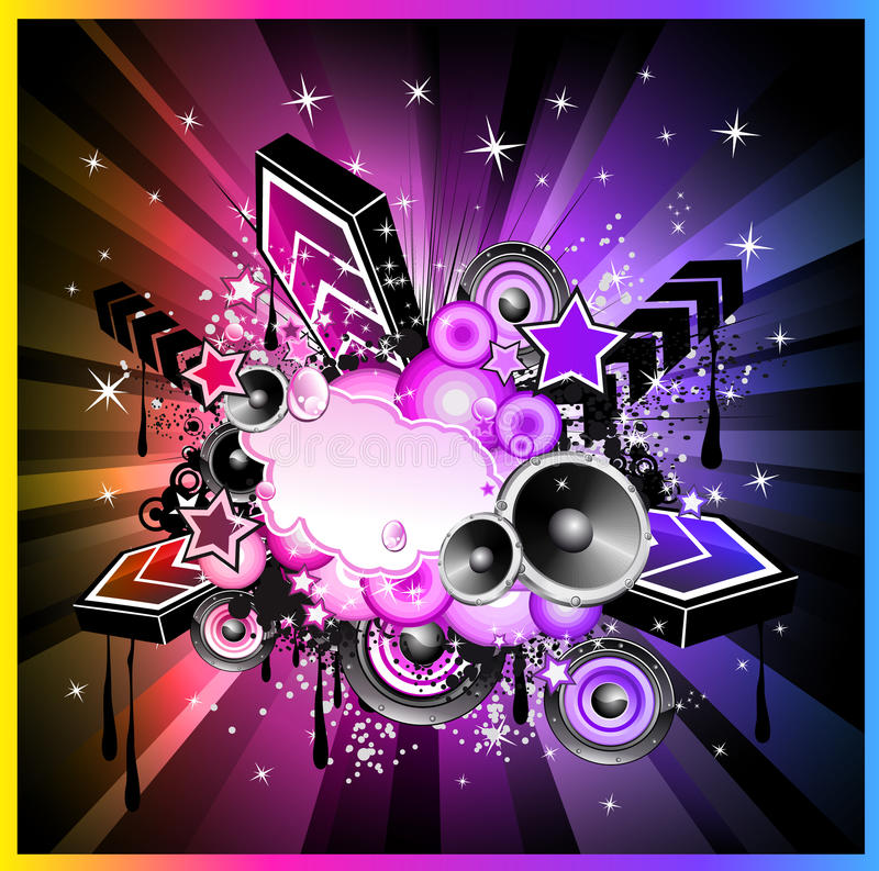 Fundo f do evento da música de Colorul ilustração do vetor