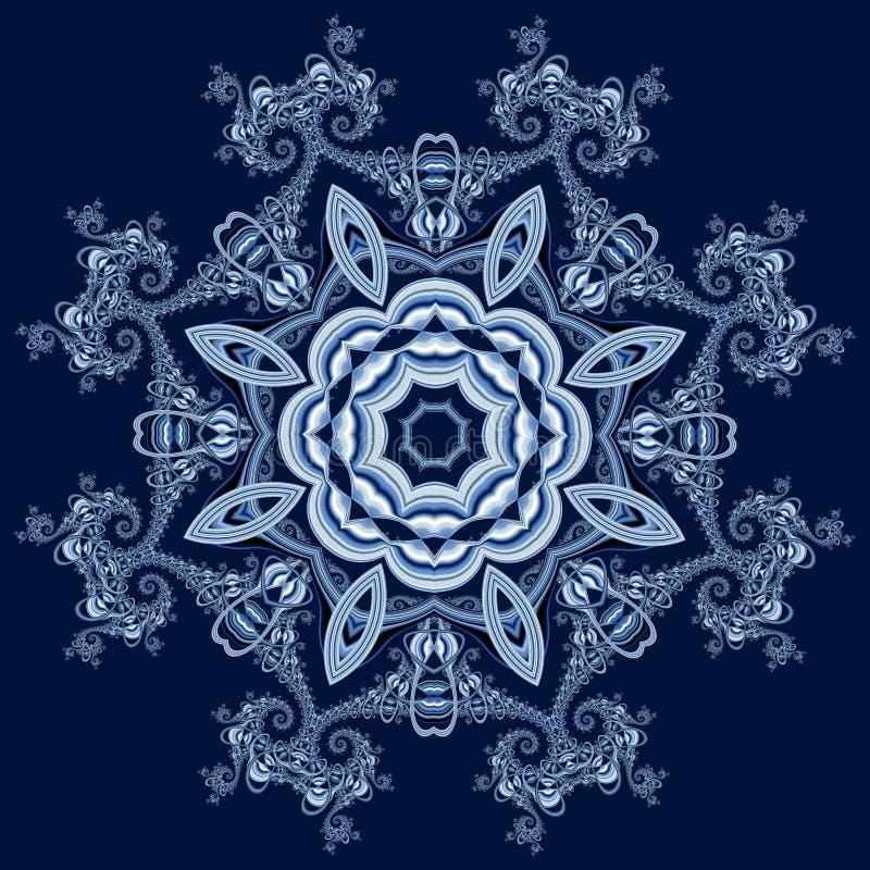 Fundo fabuloso do fractal com ornamento do círculo   ilustração royalty free