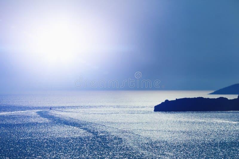 Fundo fantástico do mar Mar Mediterrâneo, Montenegro, Europa foto de stock
