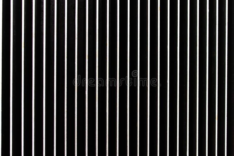 Fundo feito do metal Listras verticais foto de stock