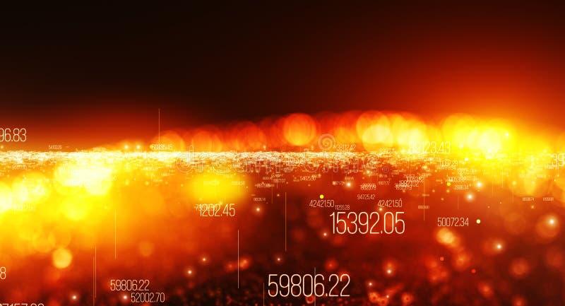 Fundo feito dos dígitos, movimento de dados digitais ilustração royalty free