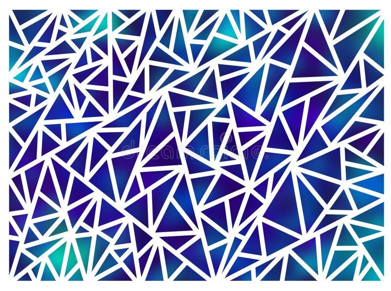Fundo feito dos triângulos em um fundo branco ilustração stock