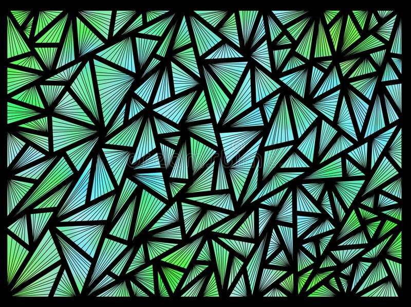 Fundo feito dos triângulos em um fundo preto ilustração do vetor