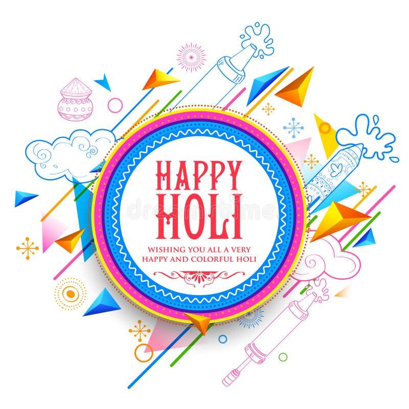 Fundo feliz abstrato de Holi para o festival de cumprimentos da celebração das cores ilustração royalty free