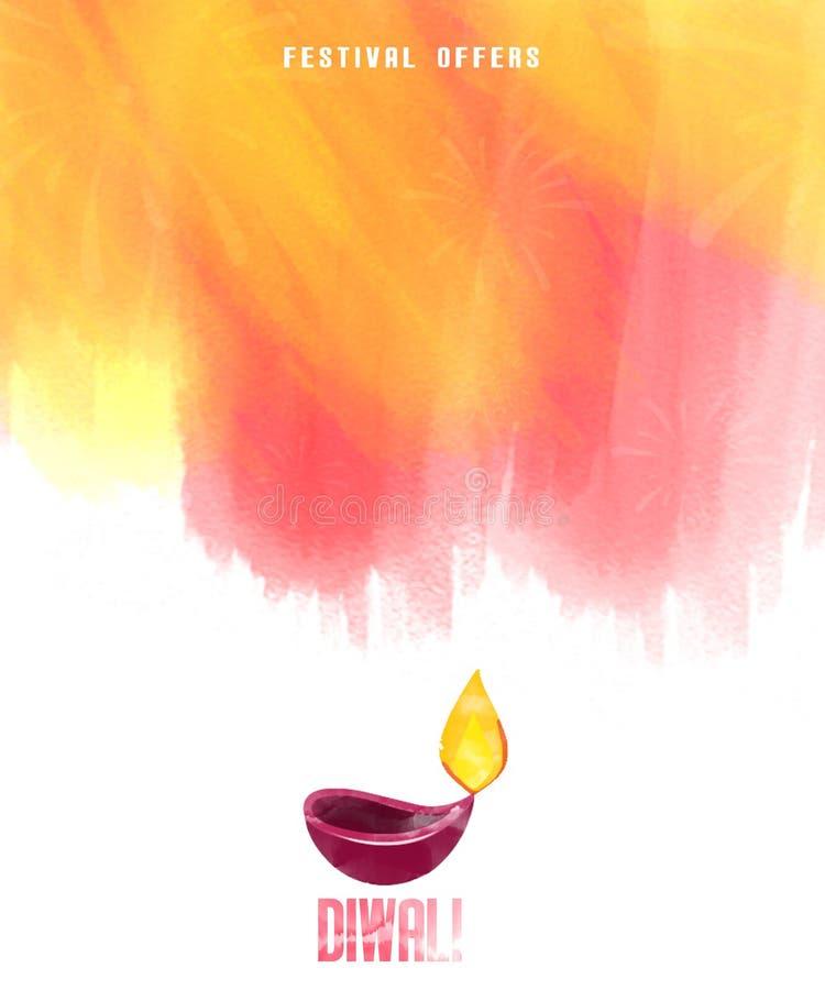 Fundo feliz bonito abstrato de Diwali ilustração stock