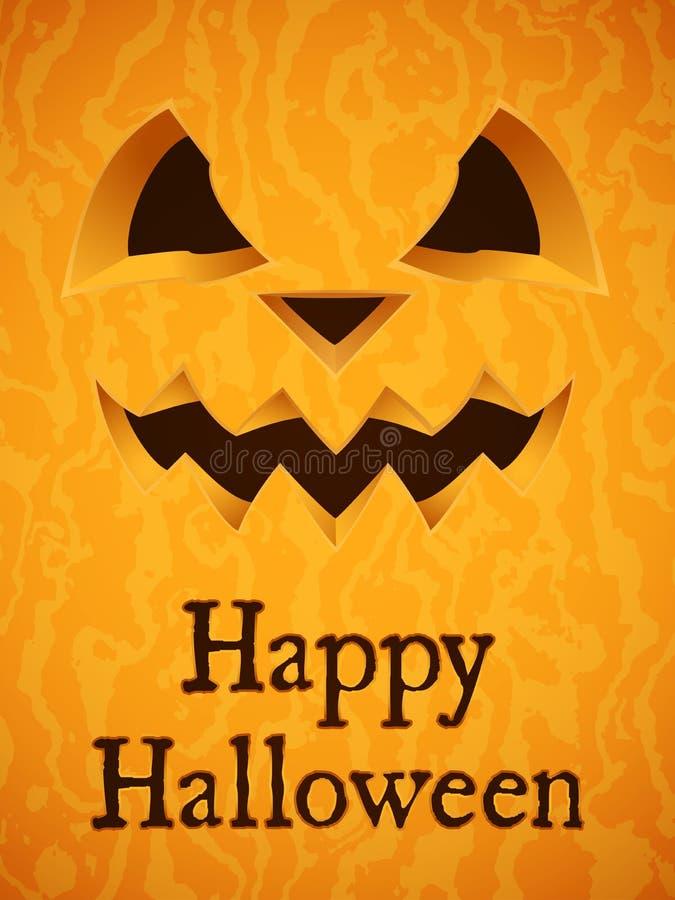 Fundo feliz da abóbora de Halloween ilustração stock