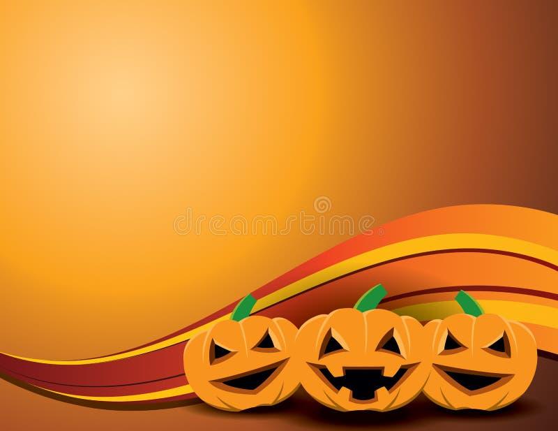 Fundo feliz da abóbora de Halloween ilustração do vetor