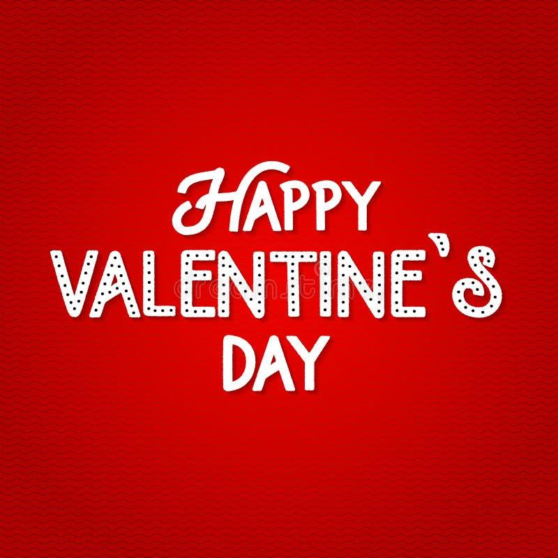 Fundo feliz da rotulação do dia de Valentim, cartão romântico Cartaz do amor do vetor Elementos do logotipo do Valentim para seu  ilustração stock