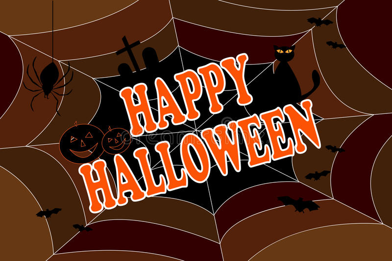 Fundo feliz de Halloween ilustração royalty free
