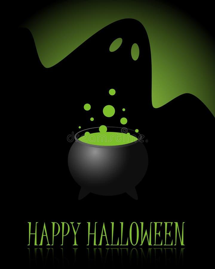 Fundo feliz de Halloween ilustração do vetor