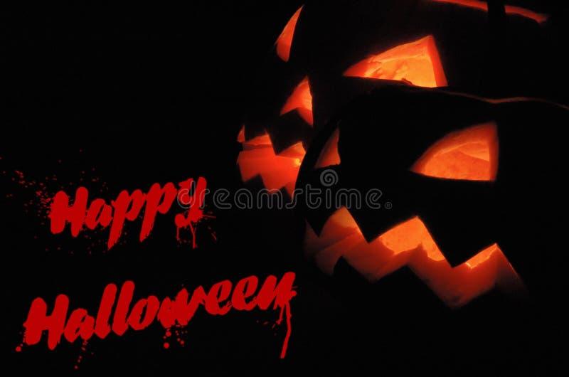 Fundo feliz de Halloween com inscrição sangrenta ilustração do vetor