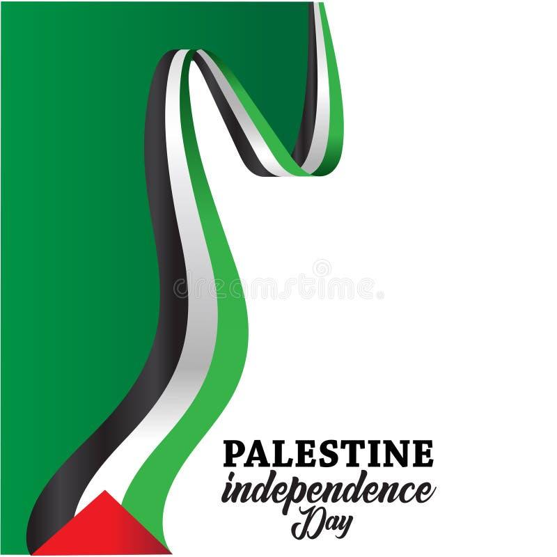 Fundo feliz do Dia da Independência de Palestina ilustração stock