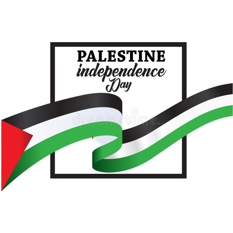 Fundo feliz do Dia da Independência de Palestina ilustração royalty free