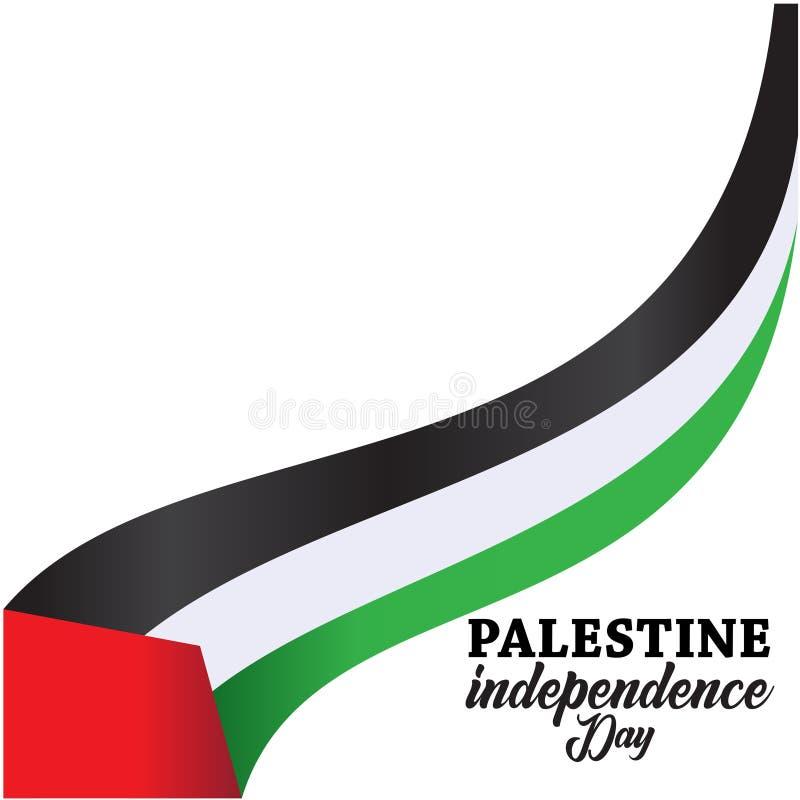 Fundo feliz do Dia da Independência de Palestina ilustração do vetor