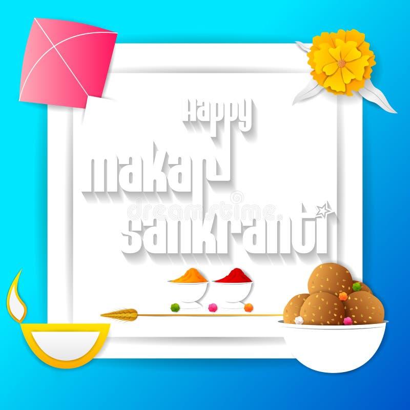 Fundo feliz do festival da Índia do feriado de Makar Sankranti ilustração stock