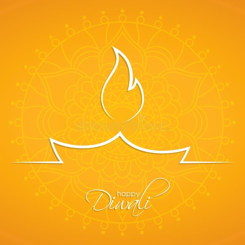 Fundo feliz do sumário de Diwali ilustração royalty free