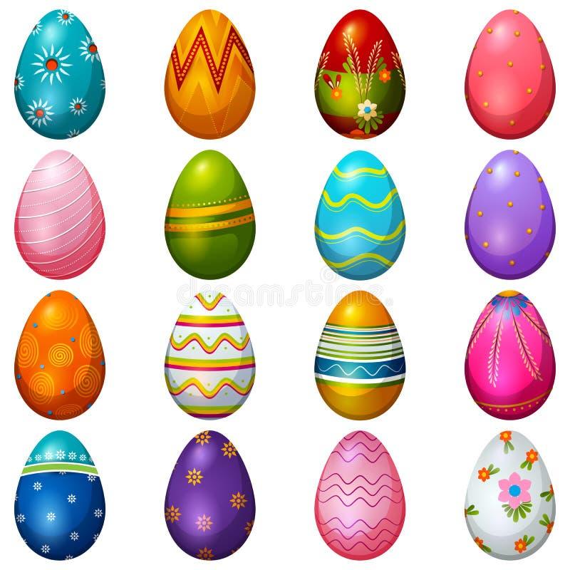 Fundo feliz pintado colorido do cumprimento da Páscoa do ovo ilustração royalty free