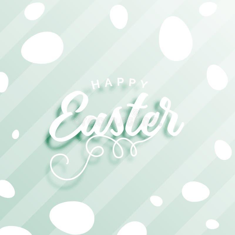 Fundo feliz surpreendente da celebração de easter com ovos ilustração stock