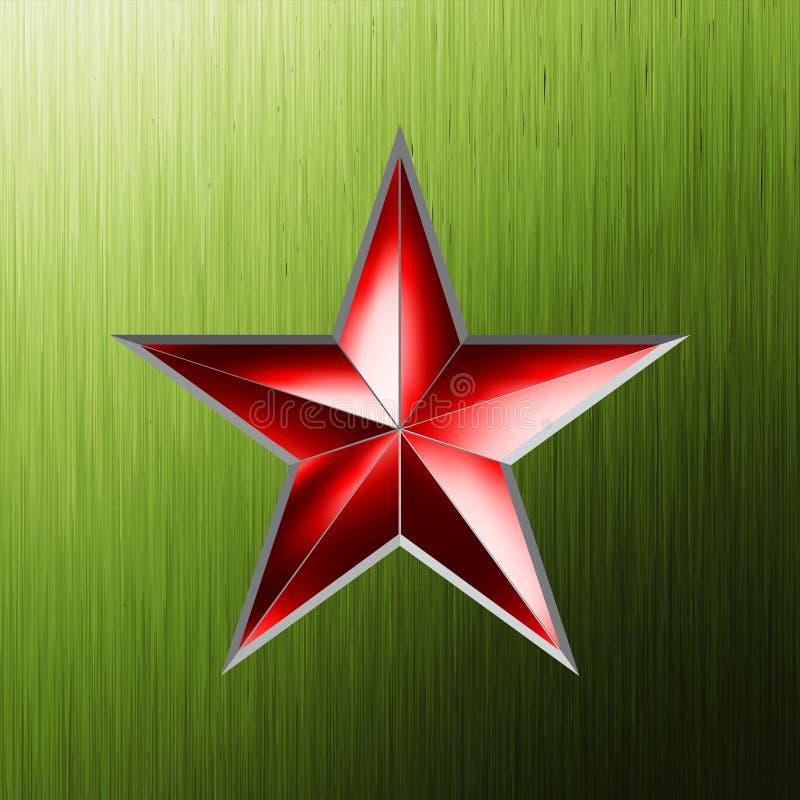 Fundo festivo com estrela vermelha. EPS 8 ilustração royalty free