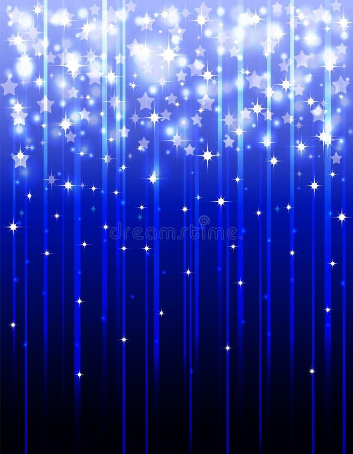 Fundo festivo com estrelas de tiro ilustração do vetor