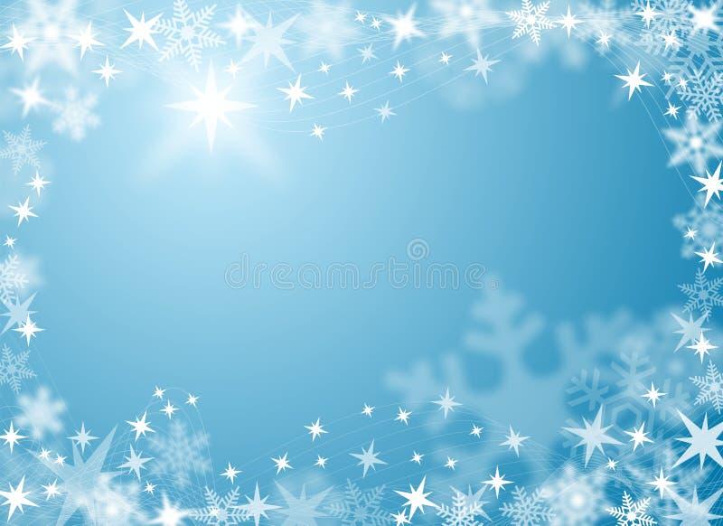 Fundo festivo da neve e do gelo ilustração stock