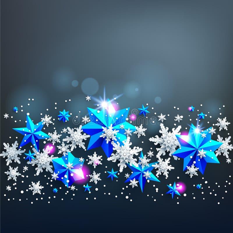 Fundo festivo das estrelas do brilho ilustração do vetor