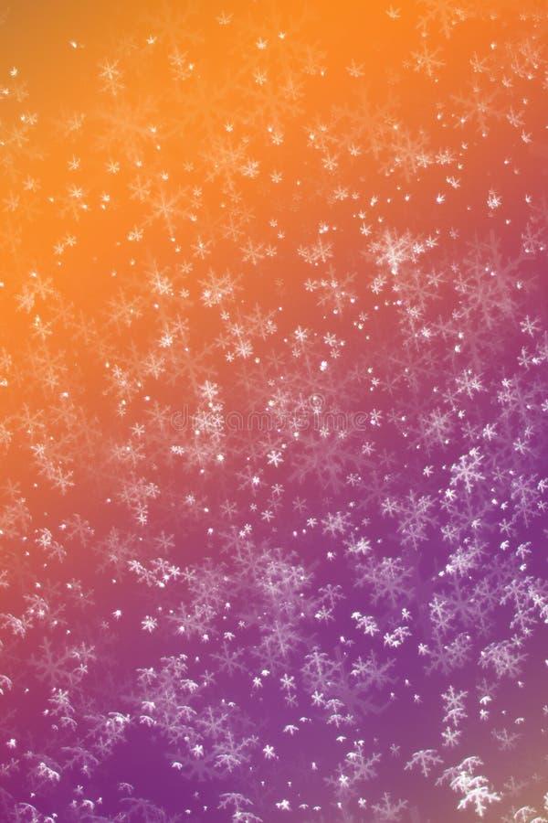 Fundo festivo vermelho e verde da neve do Natal do elegantabstract fotografia de stock