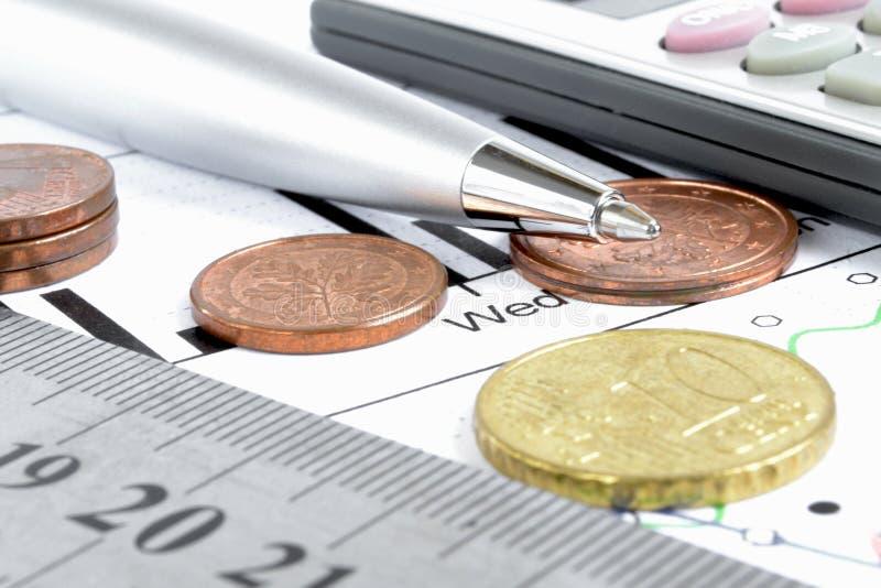 Fundo financeiro fotografia de stock