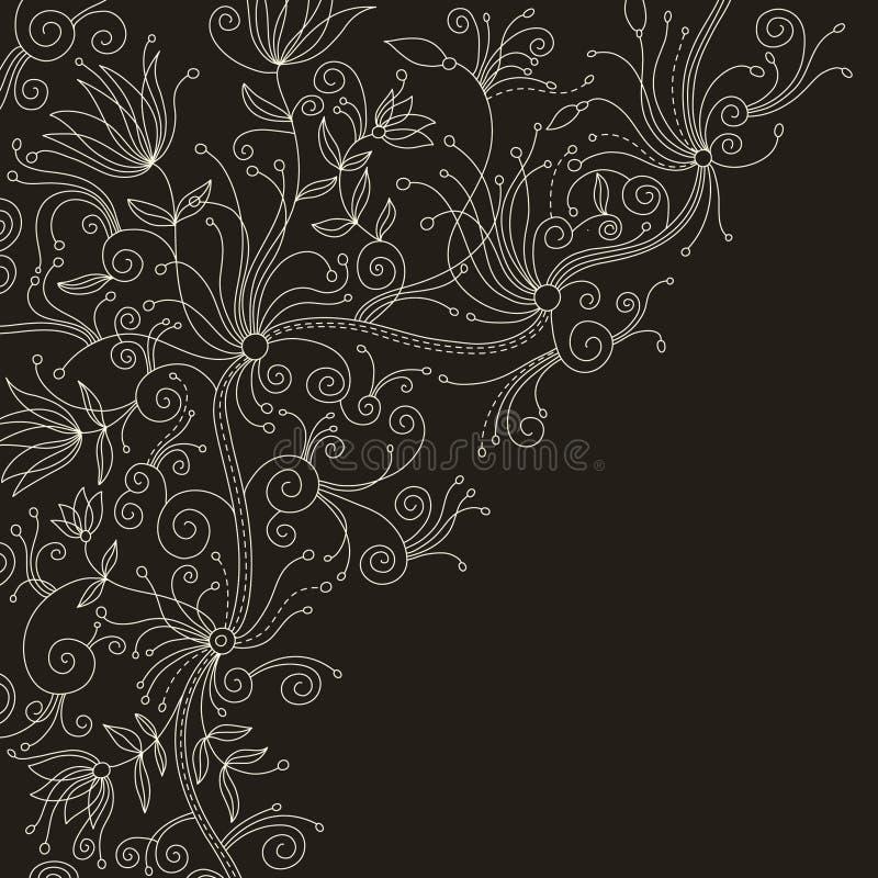 Fundo floral à moda ilustração royalty free