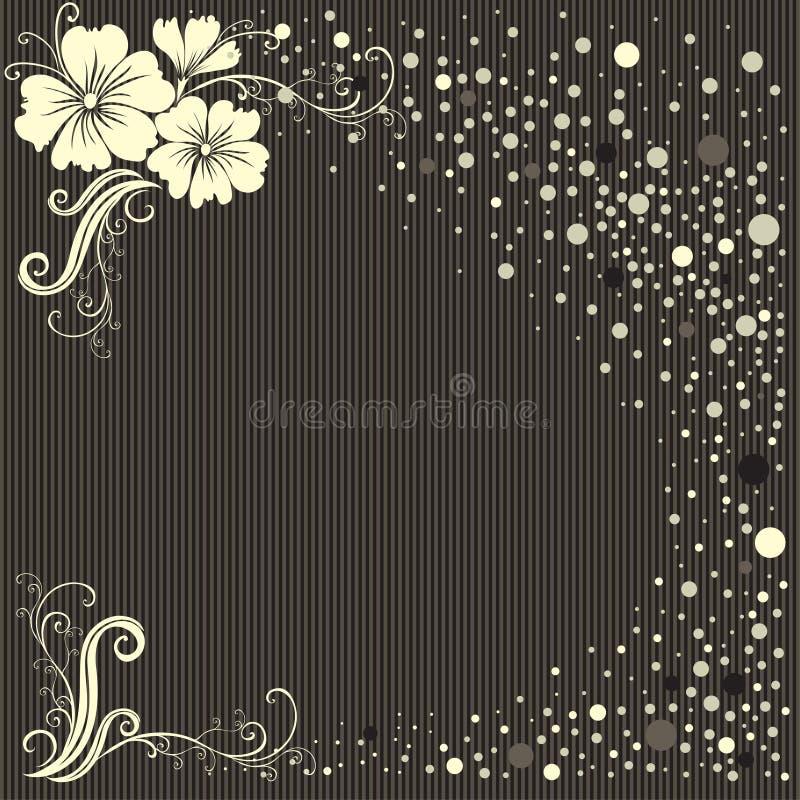 Fundo floral à moda do vintage do vetor ilustração royalty free