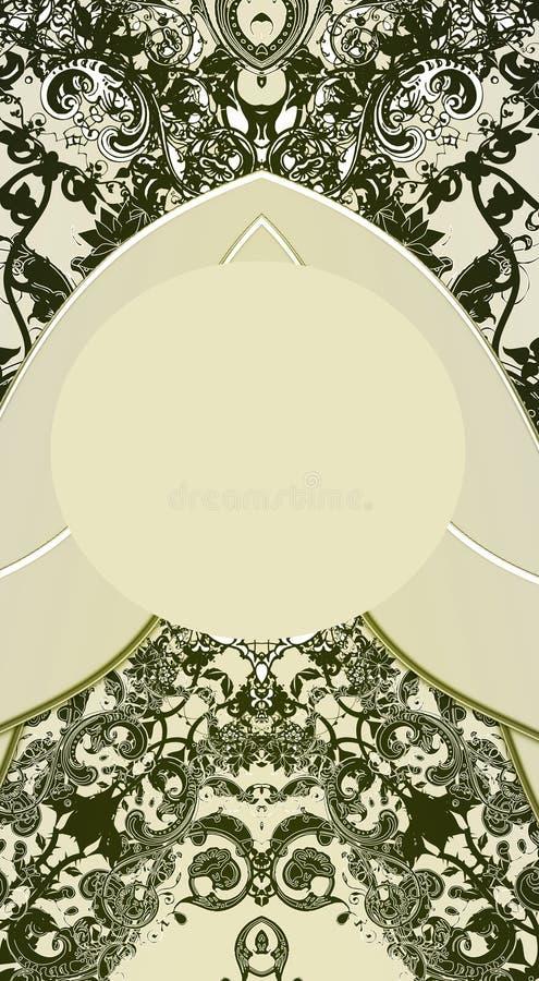 Download Fundo floral ilustração stock. Ilustração de envelhecido - 534857