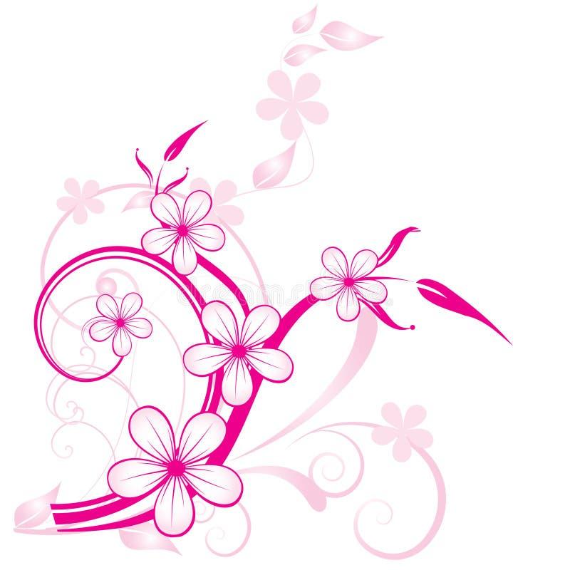 Download Fundo floral abstrato ilustração do vetor. Ilustração de linha - 12800297
