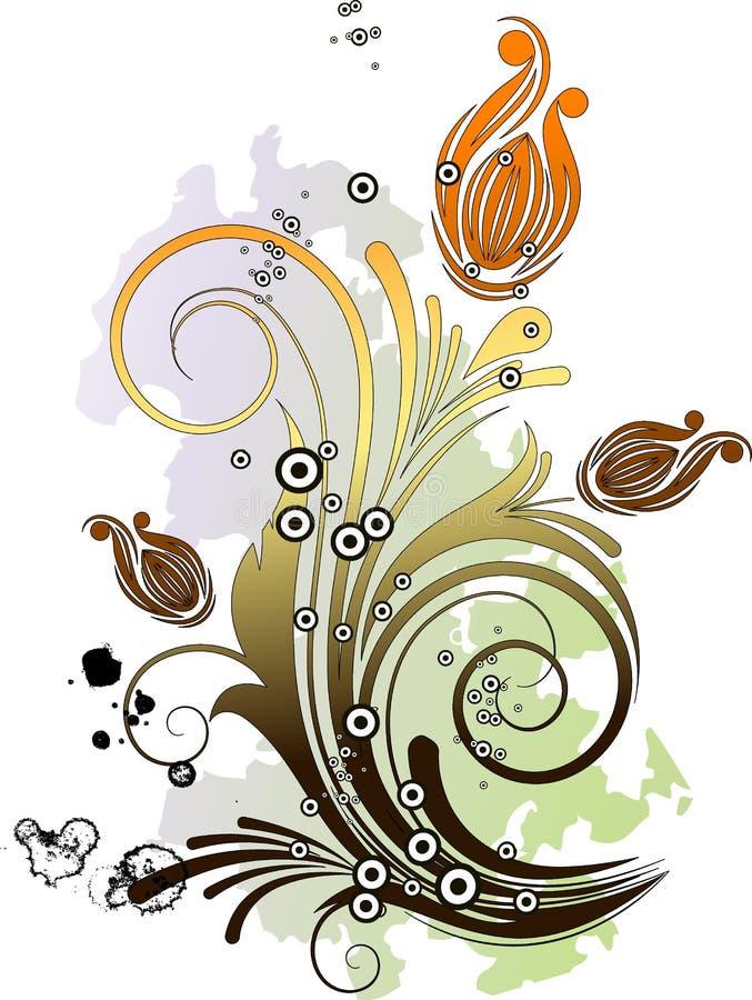Fundo floral abstrato. ilustração stock