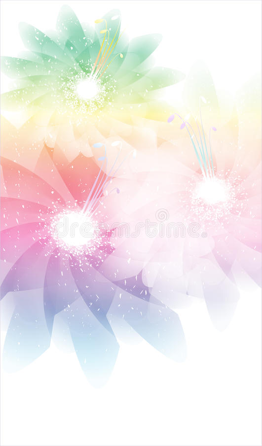 Fundo floral abstrato. ilustração royalty free
