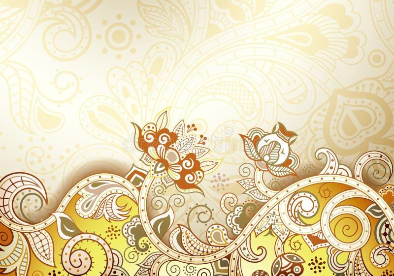 Fundo floral abstrato ilustração royalty free