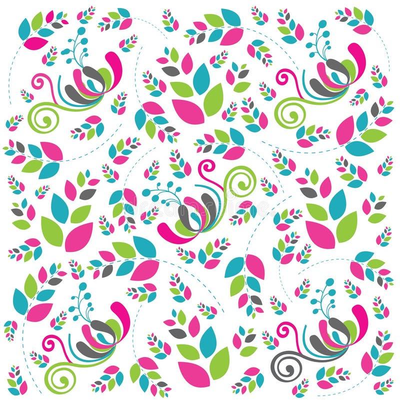 Fundo floral abstrato bonito brandamente na cor-de-rosa ilustração do vetor