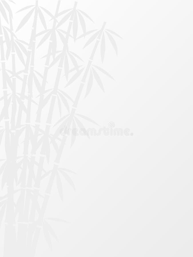 Fundo floral abstrato com bambu ilustração stock