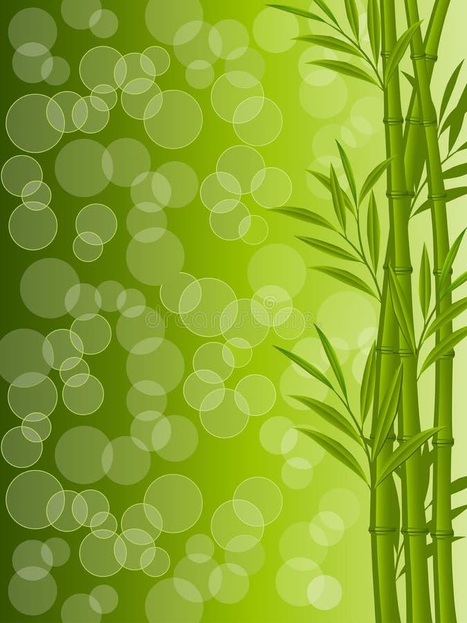 Fundo floral abstrato com um bambu ilustração royalty free