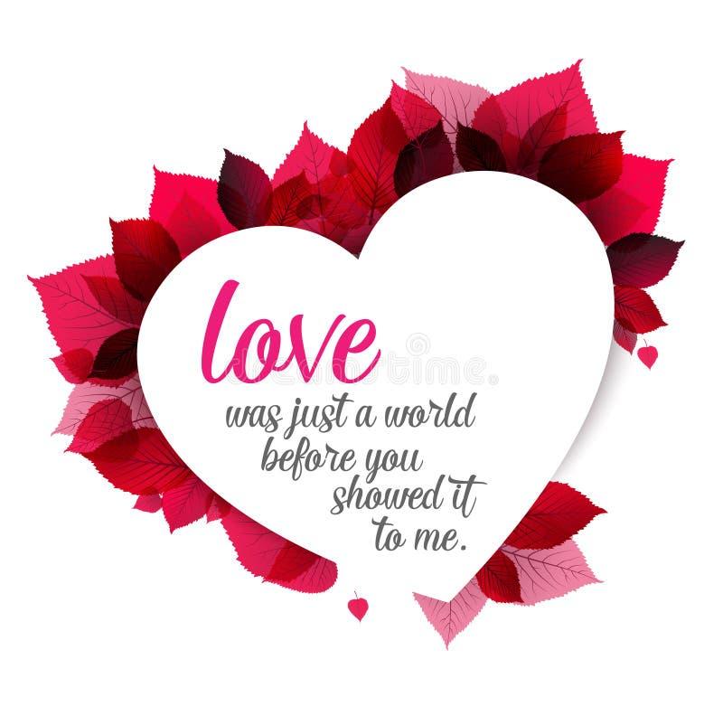 Fundo floral abstrato cor-de-rosa (cartão do amor dos Valentim) ilustração royalty free